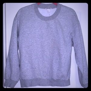 H&M  OFF BLACK grey crewneck sweatshirt